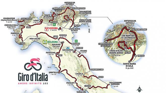 Giro d'Italia 2019 – az útvonal