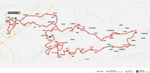 Kuurne-Brussel-Kuurne 2019 – útvonal