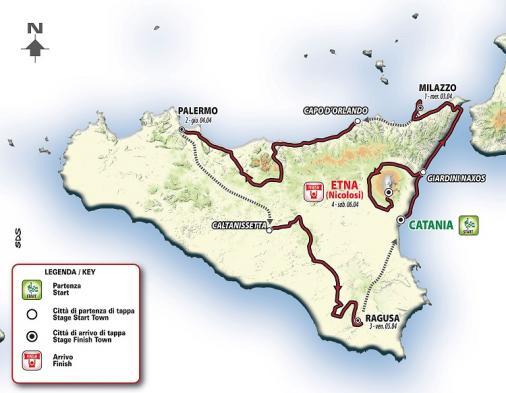 Giro di Sicilia 2019 – útvonal