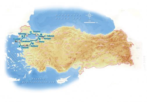 Presidential Cycling Tour of Turkey 2019 – útvonal