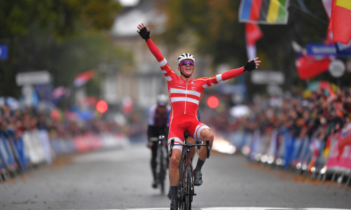 2019 Harrogate Yorkshire UCI vilagbajnokság Mads Pedersen nyeri
