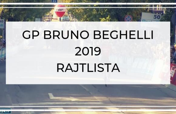 GP Bruno Beghelli 2019 – Rajtlista