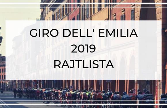 Giro dell'Emilia 2019 – Rajtlista