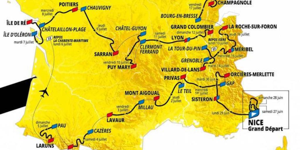 Tour de France 2020  – Rajtlista