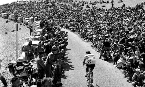 Charly Gaul a Mont Ventoux-n (Tour de France 1958)