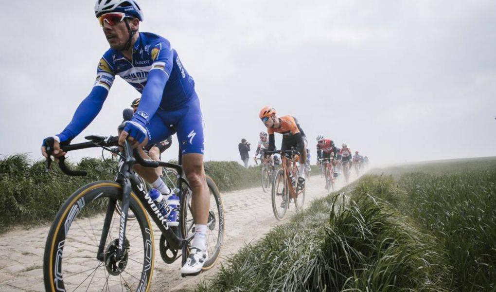 Philippe Gilbert a Paris-Roubaix macskakövein