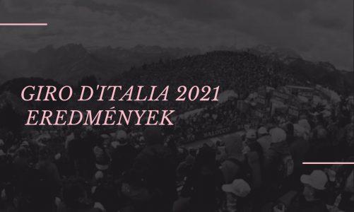 Giro d'Italia 2021 Eredmények: 8. szakasz
